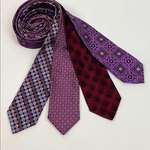 Silk tie bundle Robert Talbott Kōlte Andrew Davis